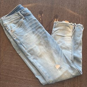 Distressed light blue slimmer jeans from Express